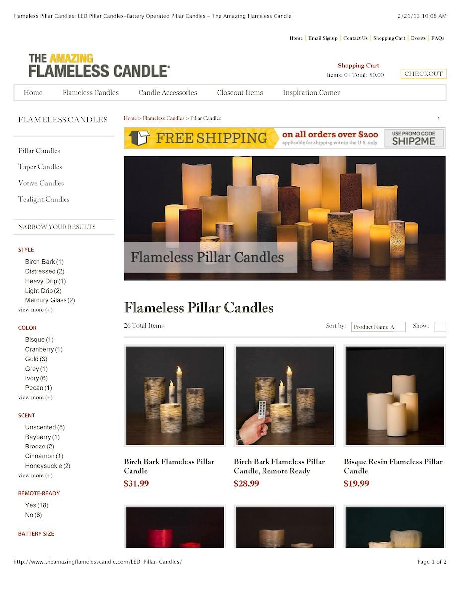 Flameless Pillar Candles: LED Pillar Candles-Battery Operated Pillar Candles - The Amazing Flameless Candle
